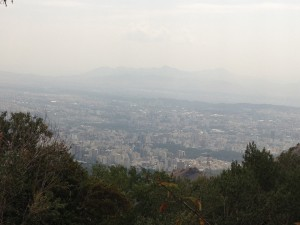 View over Tehran from the mountains above the city
