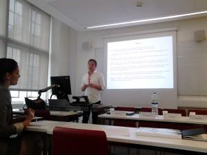 Steve Wilford speaking at BRISMES, June 2015