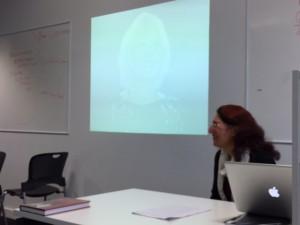 Laudan speaking at Bath Spa University, November 2015