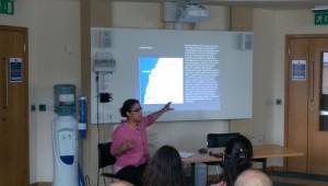 Miranda Crowdus presenting her paper