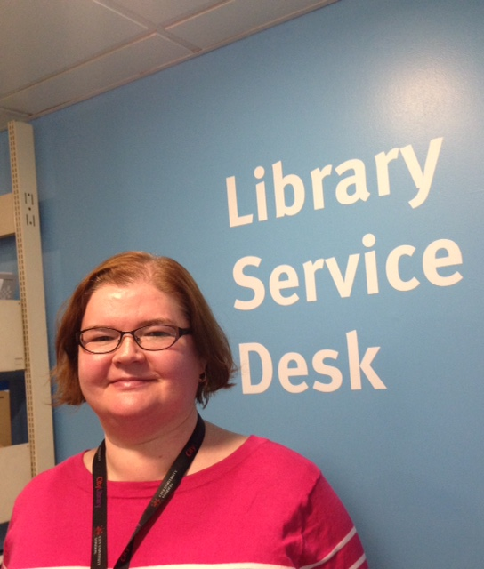 Kathryn Drumm at the City, University of London Service Desk