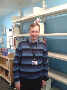 #citylis News blog Editor James Atkinson at City University London Library, where he works
