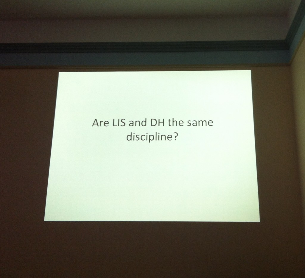 Slide: Are LIS and DH the same discipline?