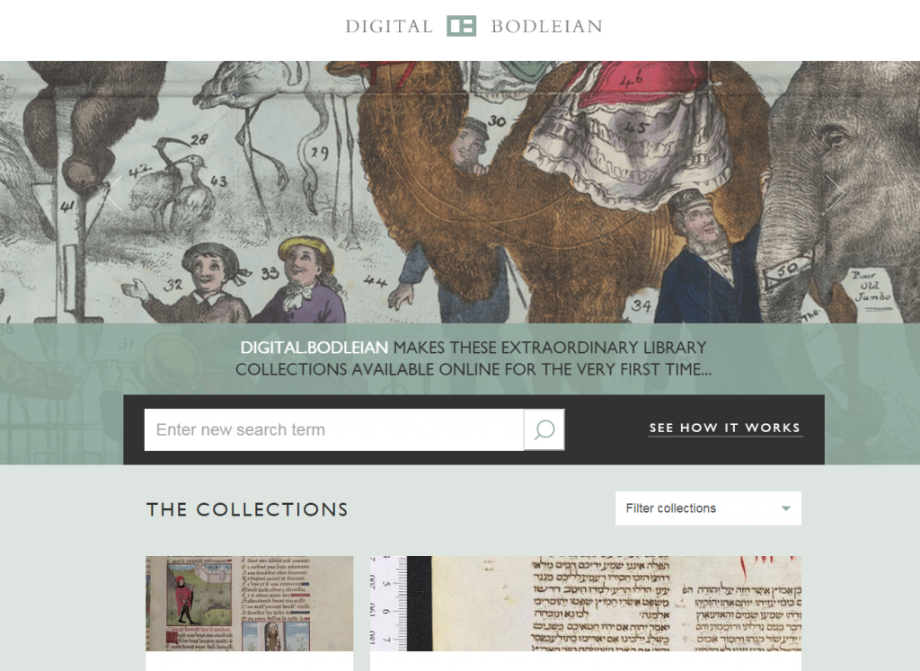 A screenshot of Digital.Bodleian