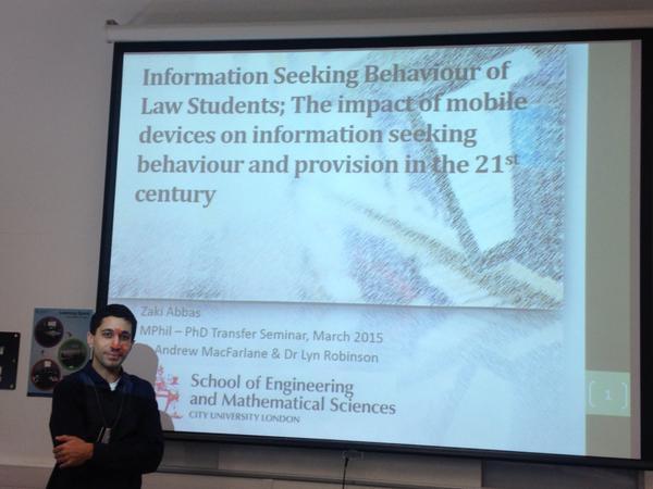 #citylis PhD candidate Zaki Abbas