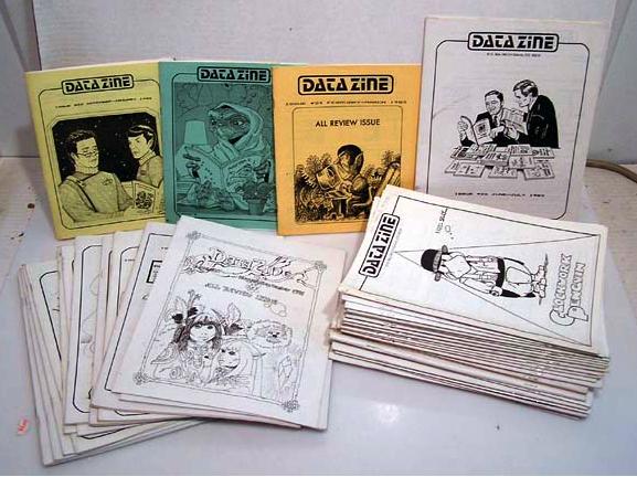Datazine (1980-91), the famous fanzine directory. (Source: Mrs. Potato Head, 2010).