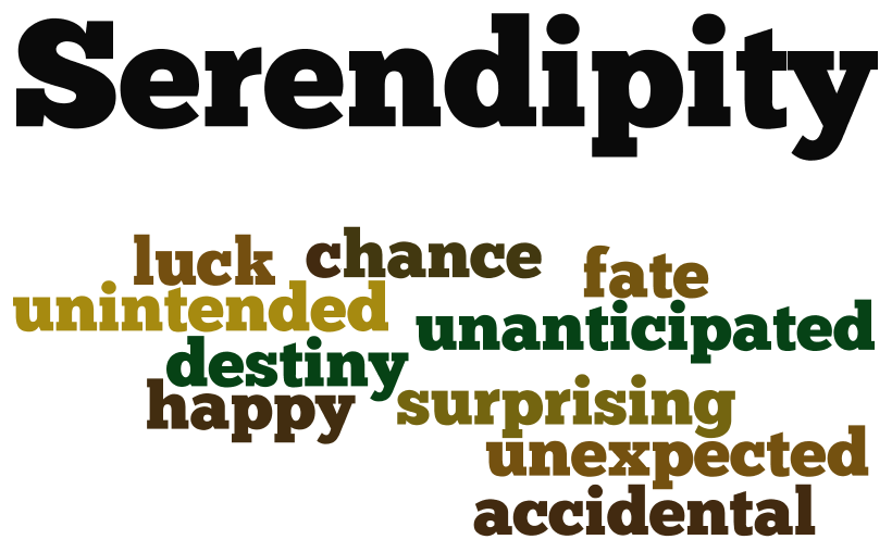 serendipity word cloud