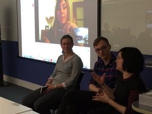 Ludi, Daniel and Alison + Dimitra via Skype