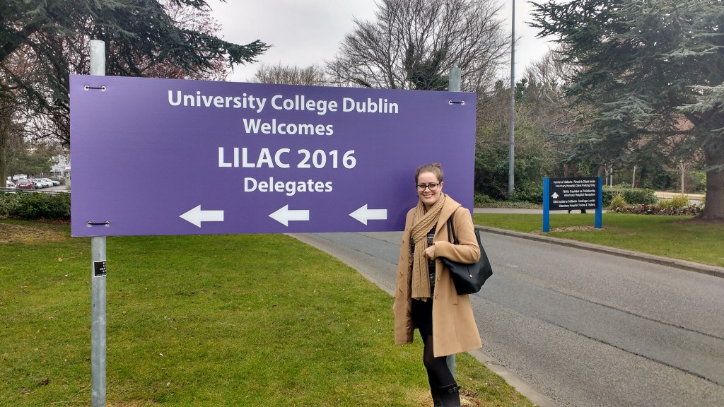 Current #citylis Student Amy Rippon Arriving at University College Dublin for LILAC 2016