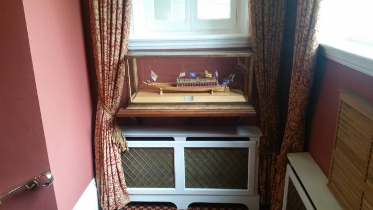 A model of the barge of the Stationers