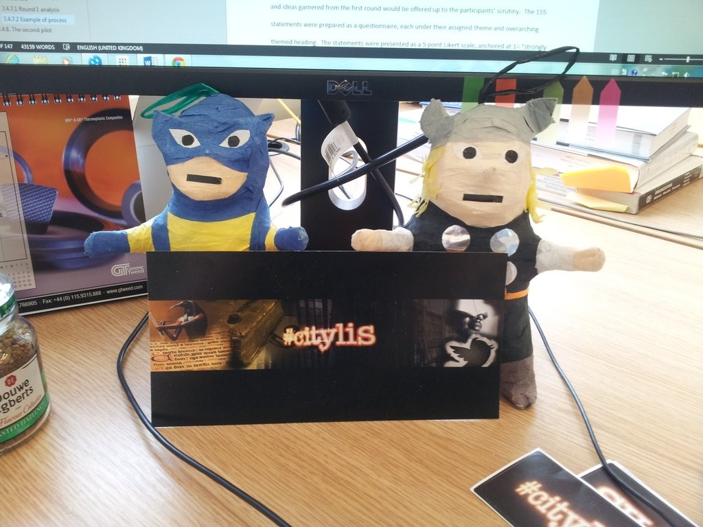 Fandom at #citylis: Wolverine and Thor pinatas