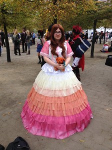 Cosplayer: Charlotte, as Kaylee from the TV show Firefly.