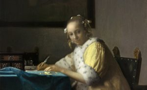 Johannes Vermeer, A Lady Writing, c. 1665