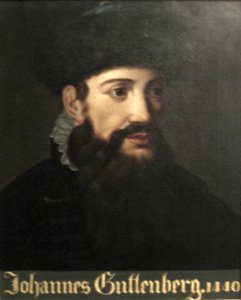 Anonymous portrait of Johannes Gutenberg dated 1440, Gutenberg Museum