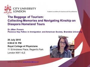 Jillian Powers guest lecture flyer