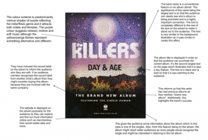 the killers conventions of album advert