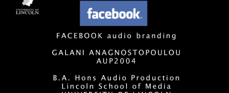 BA Audio Production at University of Lincoln. 2nd year Audio Branding exercise – Galani Anagnostopoulou created an audio brand identity for Twitter