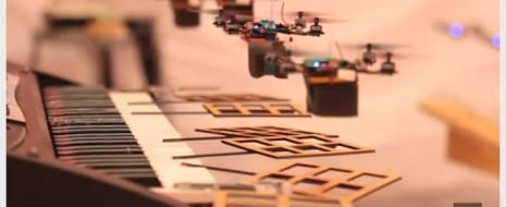 Flying robot quadrotors perform the James Bond Theme by playing various instruments including the keyboard, drums and maracas, a cymbal, and the […]