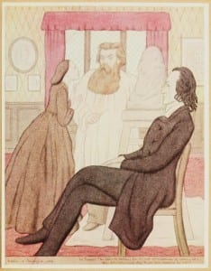 MRS TENNYSON: 'You know, Mr. Woolner, I'm one of the most un-meddlesome of women; but—when (I'm only asking), when do you begin modelling his halo?'