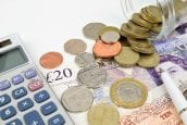 National living wage - money and calculator