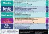 menu week 1 18th - 22nd