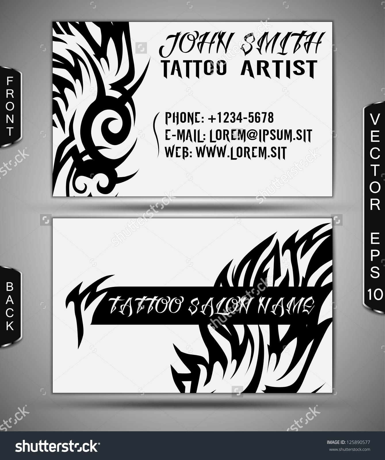 Tattoo Business Cards | Unlimitedgamers.co