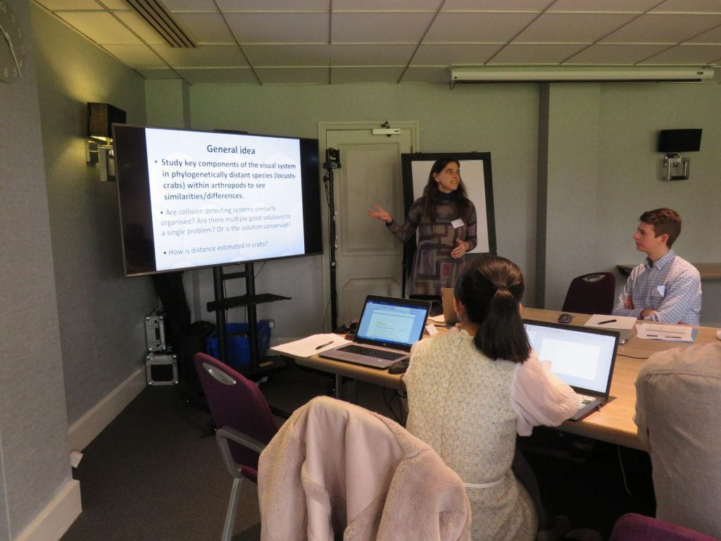 Dr Julieta Sztarker presenting at the STEP2DYNA Workshop 6 held in Cambridge UK