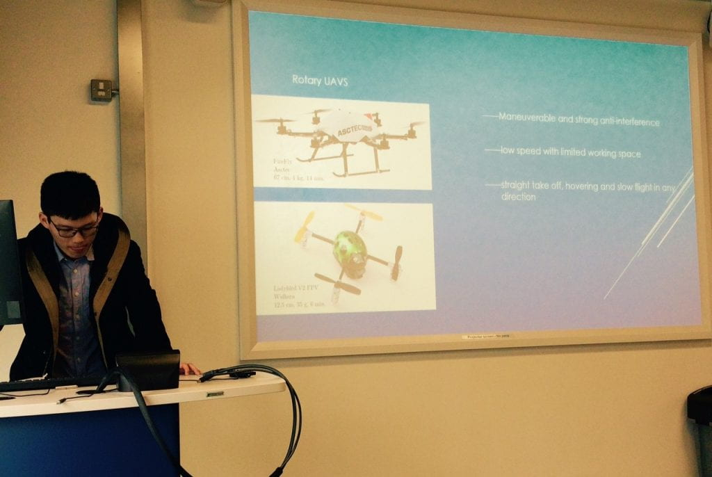 Ziteng Wang presenting at STEP2DYNA Workshop 2 at the University of Lincoln
