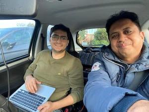 Azreen and Siavash collecting data