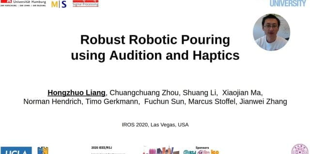 Hongzhuo Liang presents at the International Conference on Intelligent Robots and Systems