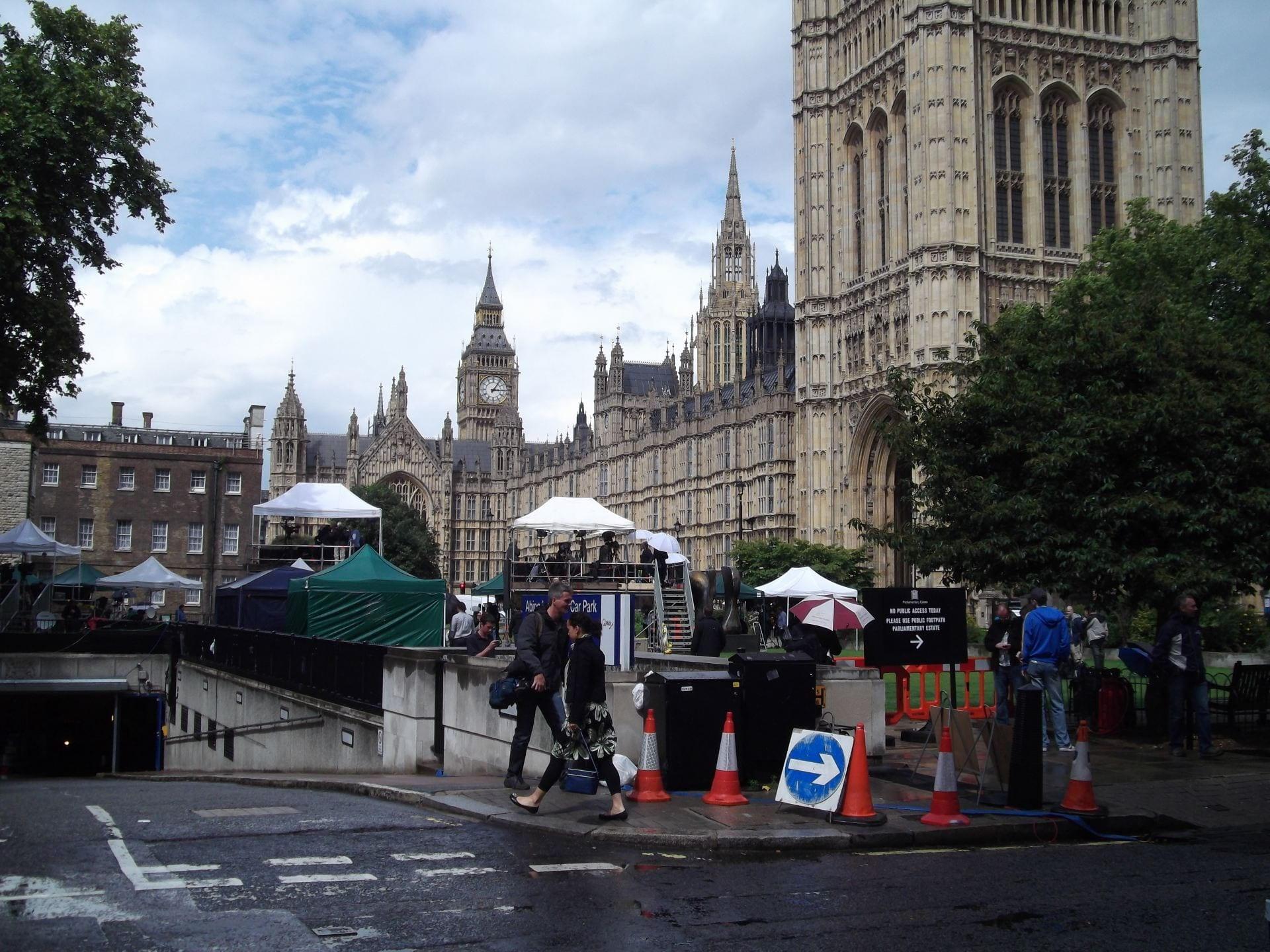 Media outside Westminster