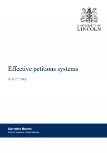 Effective Petitions Systems
