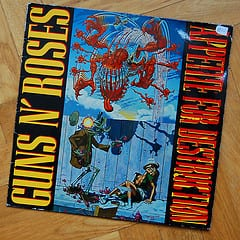 This is Slash's original artwork for the cover of Appetite For Destruction.
