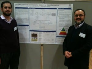 Amjad Altadmri and Amr Ahmed around their poster at the Vision & Language Net workshop, 13-14th Dec 2012, Sheffield, UK.