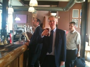 Doctoral Tradition 3 - the first doctoral pint