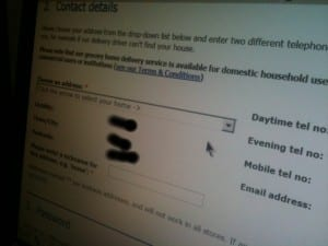 tesco registration form 1