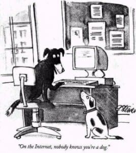 no one knows your a dog online cartoon