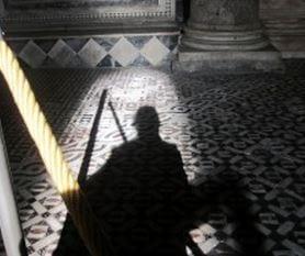 Silhouette taken in St John's Baptistry, Florence, October 2013