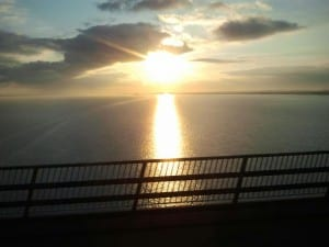 sunrise over the humber
