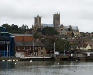 Lincoln Cathedral from the University of Lincoln