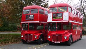 buses - waiting for ages then two come at once  image from www.routemasterbuses.co.uk -