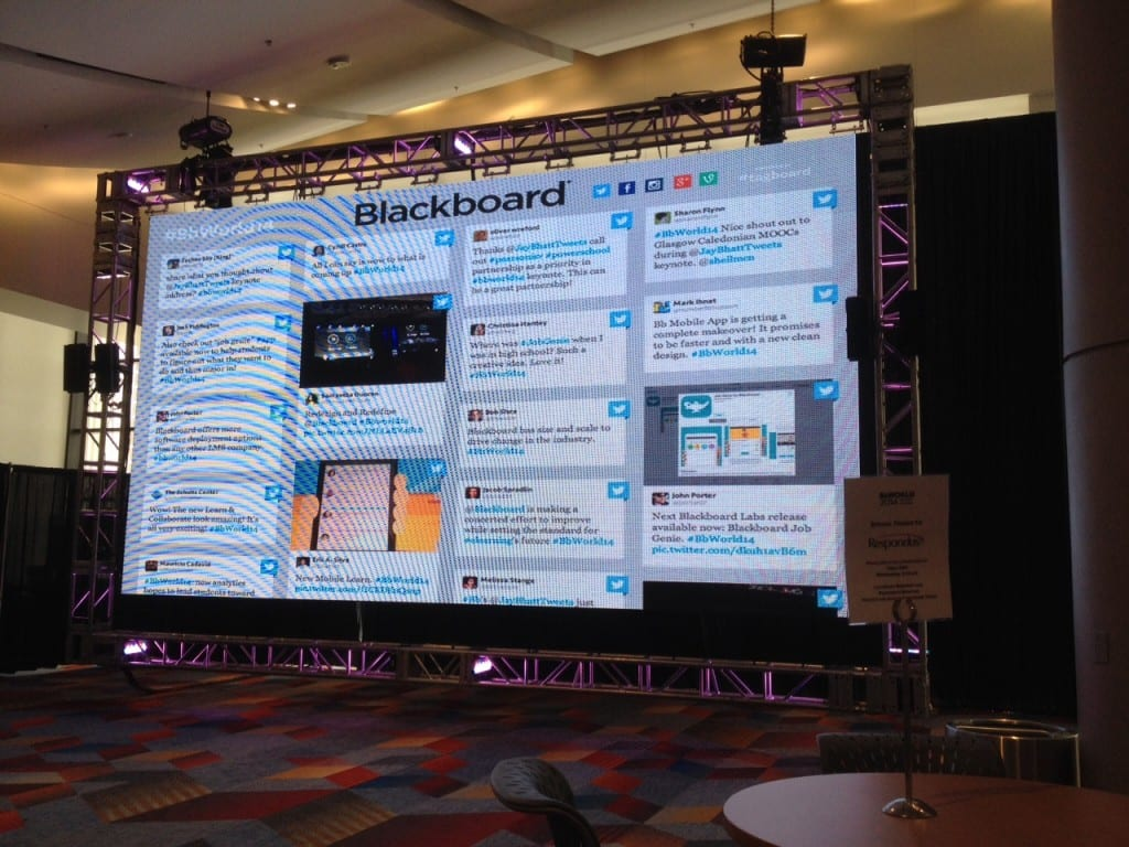 Twitter Wall at BBWorld14