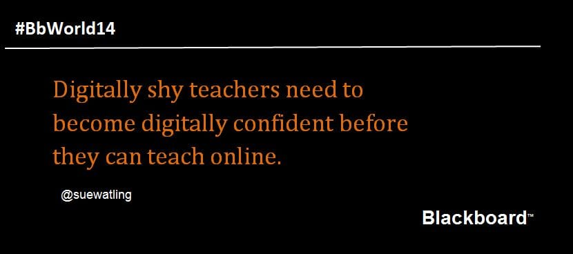 Digitally shy teachers need to be digitally confident before they can teach online