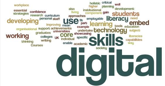 Word cloud of digital teaching and learning practice