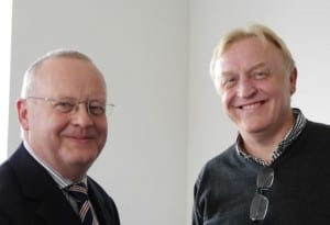 Scott Davidson and Patrick Crookes at the EDEU Coloquium on SoTL March 2015