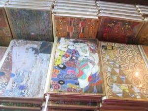 image of Klimt art from souvenir shops in Vienna