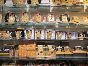 image of Klimt art from souvenir shops in Vienna