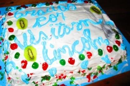 Farewell fiesta - cake!