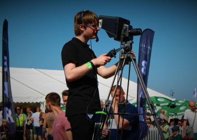 I operate cameras too. 🎥 Live visuals for Truckfest.