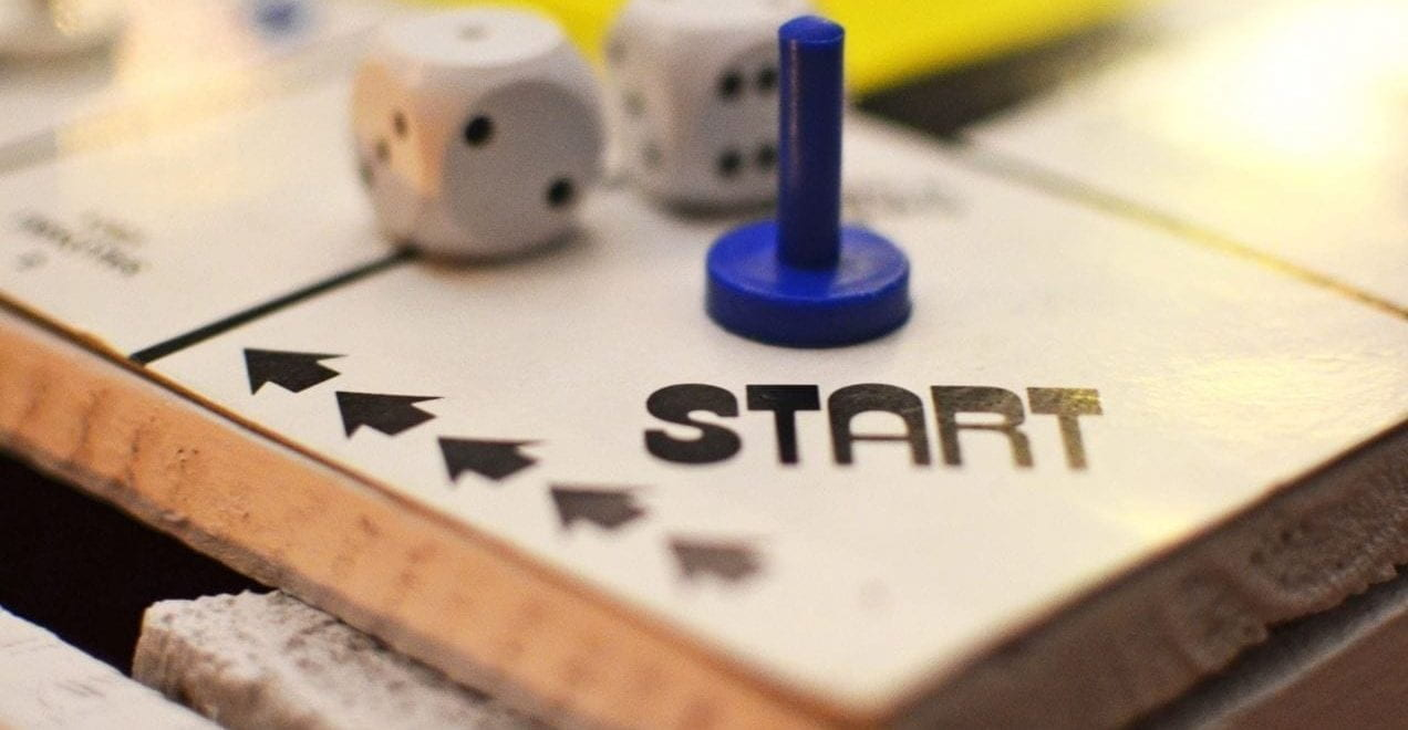 Start square on a board game